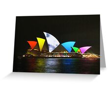 Vivid Sydney Opera House Greeting Card