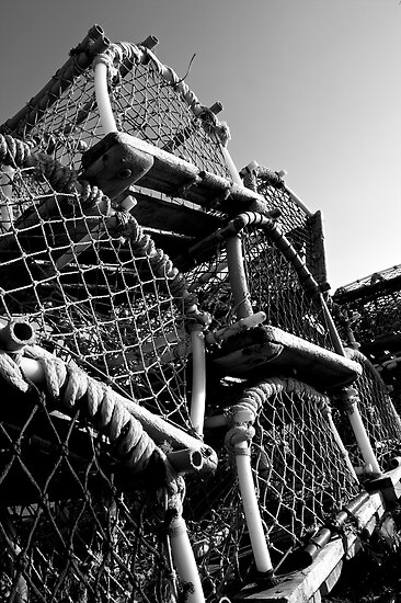 Lobster Pots at Redcar in UK by Paul Berry