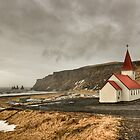 Vik Hilltop Church, Iceland by Clint Burkinshaw