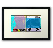 ridin on a bus with a cadillac mind just killin time. 2 Framed Print