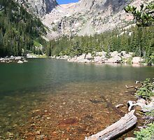Hallett Peak and Emerald Lake in RMNP Colorado by paulrbyrne