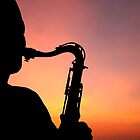 Saxophone Sunset by idesignstuff