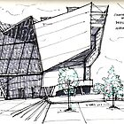 Architecture Sketch  UFA Cinema in Dresden, Germany by Vernelle  Noel