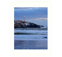 Cape Forchu Lighthouse in a Blue Mood 2 Art Print
