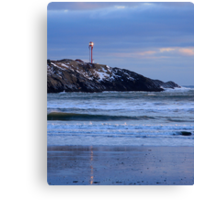 Cape Forchu Lighthouse in a Blue Mood 2 Canvas Print