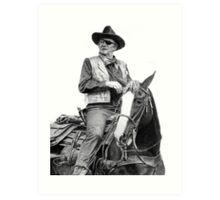 John Wayne as Rooster Cogburn Art Print