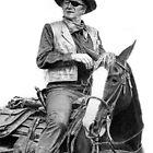 John Wayne as Rooster Cogburn by Ronny Hart