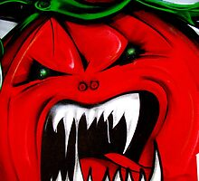 Angry Red Tomato by Janie. D