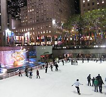 Rockefeller Center Skating Rink by lenspiro