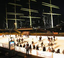 Skating Rink, Tall Ships, South Street Seaport by lenspiro
