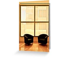 Two Chairs By Window Greeting Card