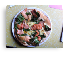 Pizza Salmone Canvas Print
