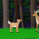 Stag and Fawn by SeaSerpent