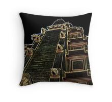 The Great Temple- Light Etch Series Throw Pillow