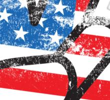 Retro American Peace Shirt Sticker