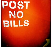 post NO bills by diLuisa Photography