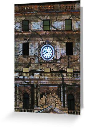 Customs House Clock by Michael John