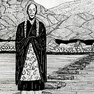 42 - BUDDHIST MONK - DAVE EDWARDS - INK - 1981 by BLYTHART