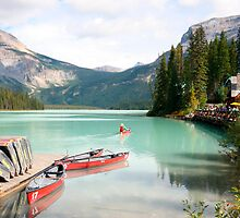 canadian rocky montain lake emerald by milena boeva