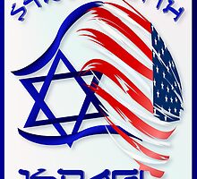 Stand With Israel - lettered Poster by Lotacats