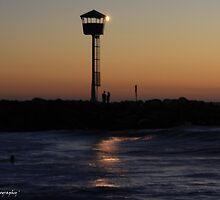 'On the Edge of Dark' - Floreat Beach WA by Brien Bland