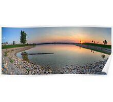 Rocky Mountain Sunset Series - Orange Sky Panorama Poster