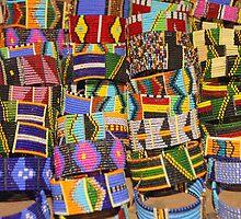 Bracelets Galore, Maasai (or Masai) Artefacts, Tanzania  by Carole-Anne