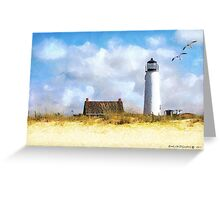 St. George Island Lighthouse (art, poetry & music) Greeting Card