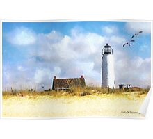 St. George Island Lighthouse (art, poetry & music) Poster