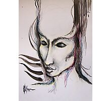 experiment with derwents and sumi ink with pen and brush Photographic Print