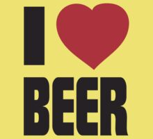 Funny Shirt - I Love Beer by MrFunnyShirt