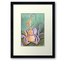 The Kangaroo In Love With The Sea Framed Print