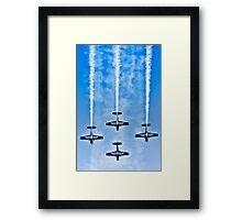 "Flying precise - ""Blue Arrows"" Framed Print"