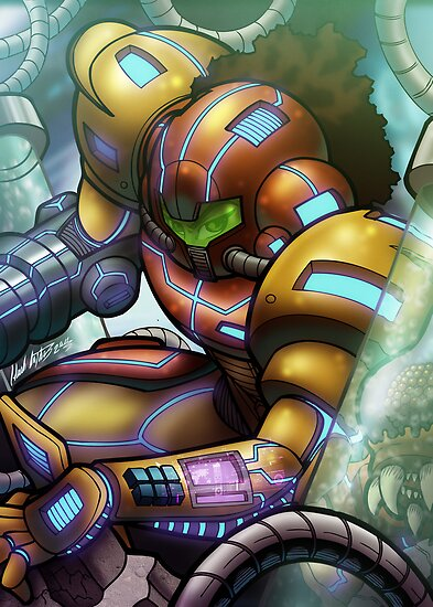 African American Samus of Metroid by illumistrations