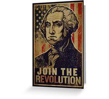 Washington Revolution Propaganda Greeting Card