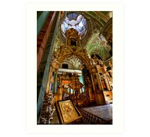 The Iconostasis of Peter the Great Art Print
