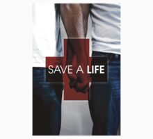 SAVE A LIFE POSTER TEE by DeniedSeries