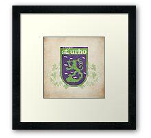 St. Urho Coat of Arms - Square Framed Print