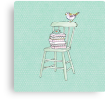 bird on a chair knows what's up! #2 Canvas Print