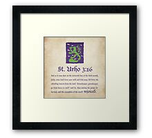 St. Urho 3:13 - Square Framed Print