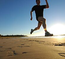 The runner - Ballina main beach by makrel