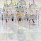 Watery Winter Morning, St. Mark's Square, Venice, Italy by johnpbroderick