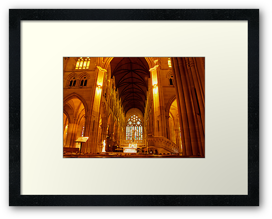 St Mary's Cathedral Interior by Melissa Fiene