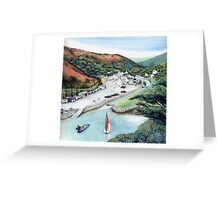 Solva Harbour, Pembrokeshire, West Wales. Greeting Card