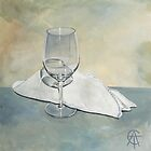 Wine Glass and Napkin by CatSalter