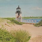 Brandt Point Lighthouse - nantucket by artofjackmck