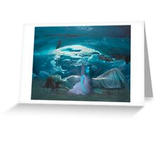 Ice Cave Blue  Baby Greeting Card