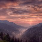 Smoky Mountain Sunset by Photography by James Hoffman