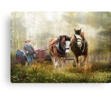The Tractor Pull Canvas Print