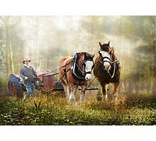 The Tractor Pull Photographic Print
